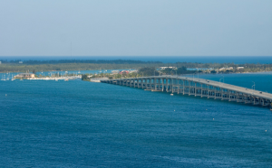 Toll Bridge to Key Biscayne. Use Sun Pass or Toll by License Plate